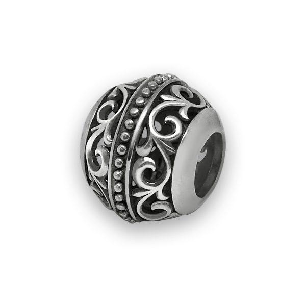 Бусина «Лилия» серебряная