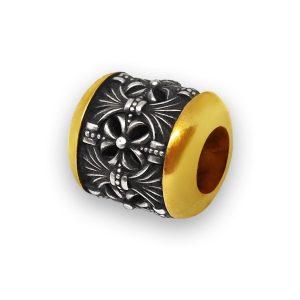 Бусина «Тамара» серебряная с позолотой